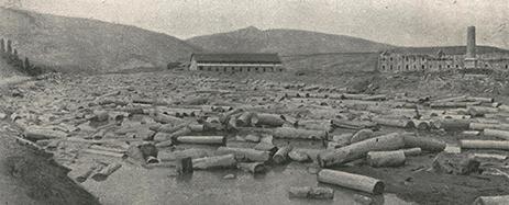 Fig._2_1910.En_el_centro_el_aserradero._A_la_derecha_la_destileria_en_construccion._Foto_E.Pliego_